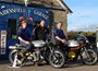 "Gavin Lupton, Bob Wood and Nick Jefferies outside the Goathland Garage (aka Aidensfield Garage from TV's ""Heartbeat"")"